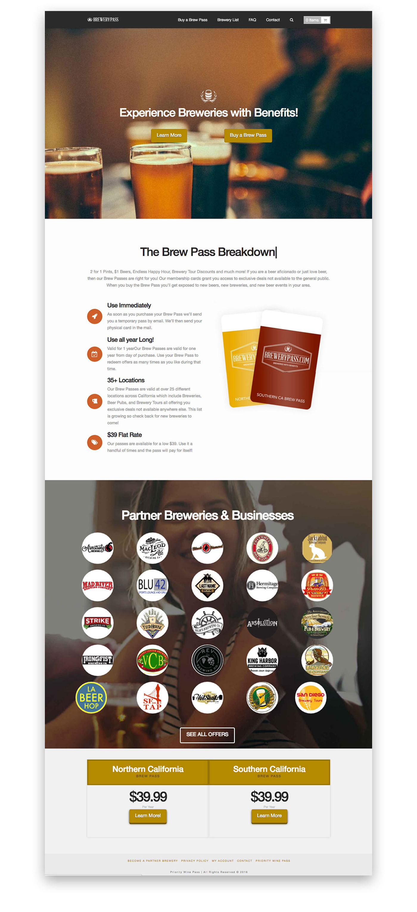 Design of the Brewery Pass Homepage