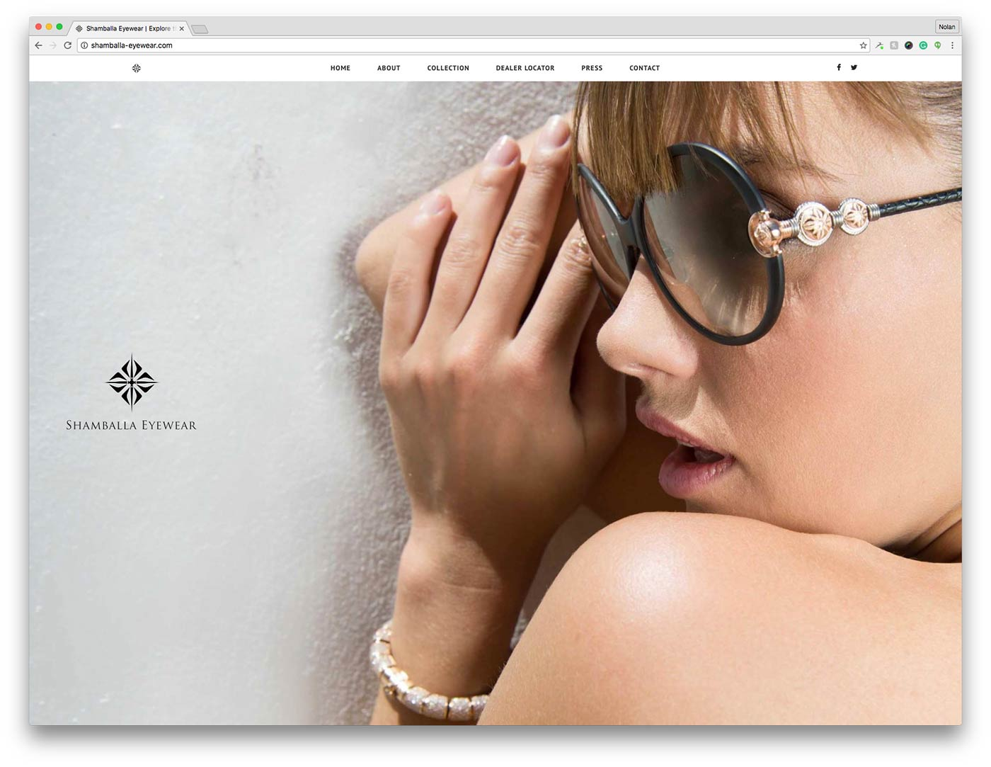 Shamballa Homepage Design
